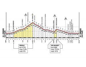 Perfil del circuito final de Florencia