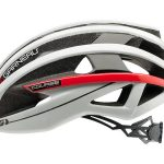 Louis Garneau Course helmet white red side