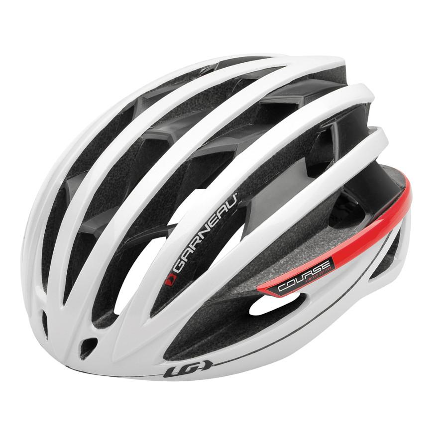 Louis Garneau Course helmet white red