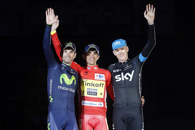 Podio Vuelta España 2014