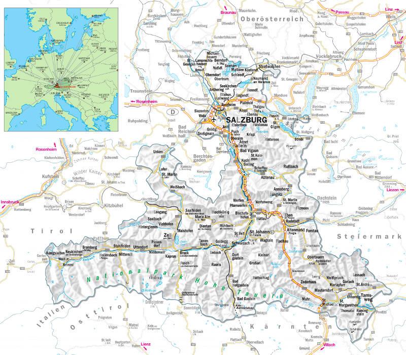 salzburgerland map