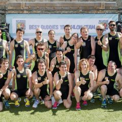 Pereiro y Romay, con el Best Buddies Triathlon Team