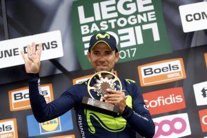 Alejandro Valverde en la Lieja-Bastoña-Lieja