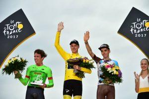 Podio Tour de Francia 2017