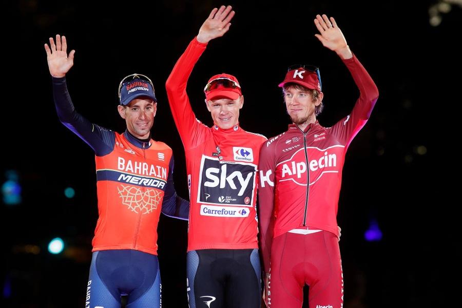 Podio Vuelta España 2017