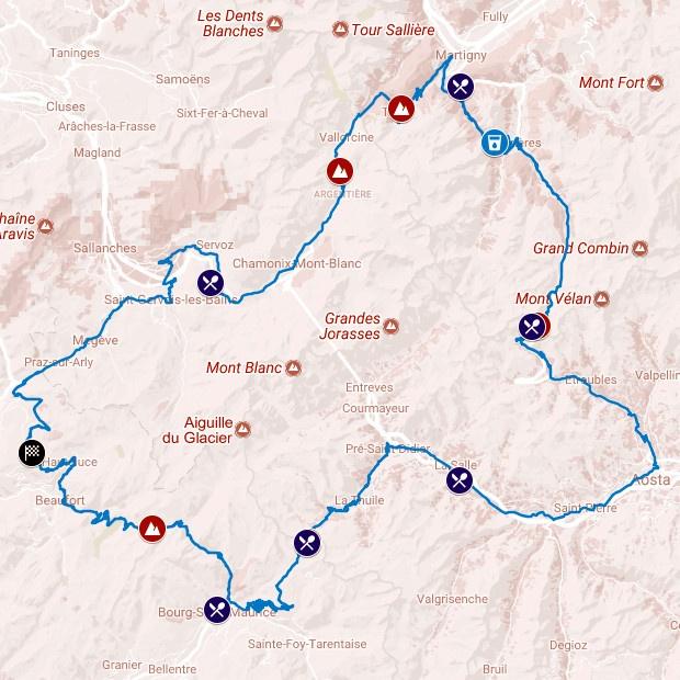 Le Tour du Mont Blanc Cyclo recorrido