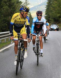 Alberto Contador y Enric Mas