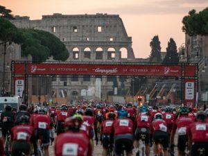Salida Granfondo Campagnolo Roma