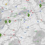 Mapa ruta Suiza