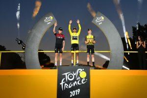 Podio Tour de Francia 2019