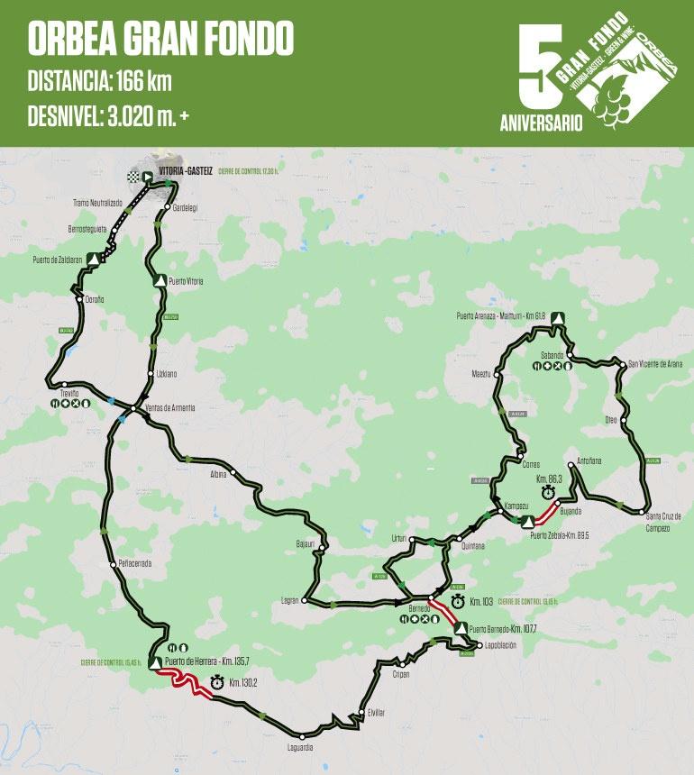 Mapa Orbea Gran Fondo Vitoria-Gasteiz