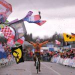 Exhibición de Van der Poel en el Mundial de Ciclocross