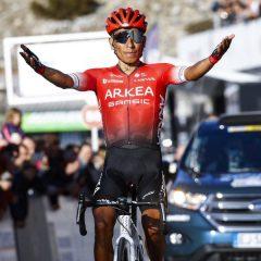 Nairo Quintana vuelve a lo más alto del podio tres años después
