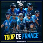 El equipo Movistar para el Tour de Francia