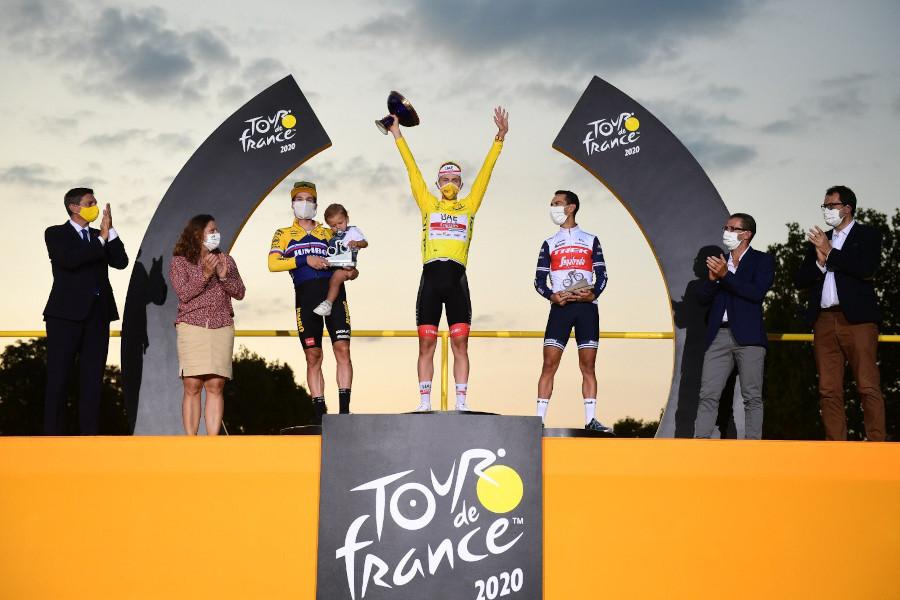 Podio Tour de Francia 2020