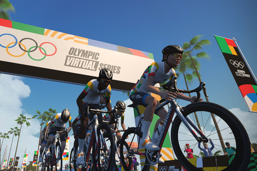 Olympic Virtual Series Zwift