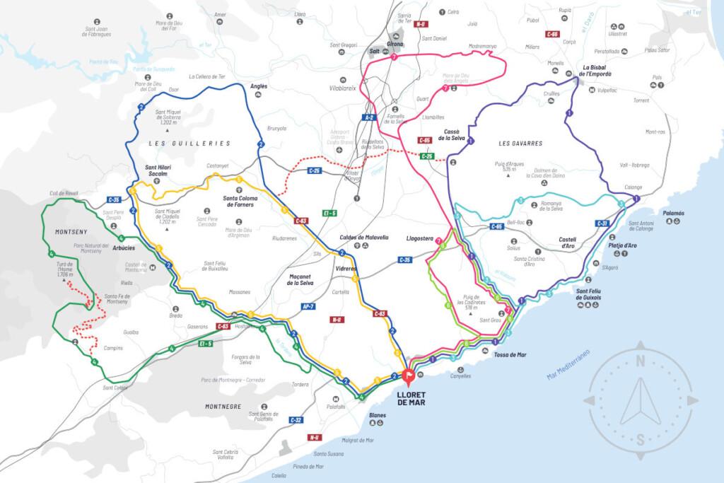 Lloret de Mar rutas ciclistas